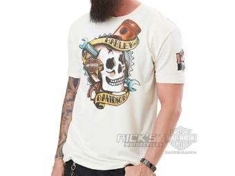"""Ricks Harley-Davidson """"Nocturnal Rebel"""" Dealer Herren Shirt 5L0H-HH3K Skull"""