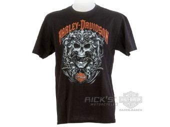 "Ricks Harley-Davidson ""Skulls and Strength"" Dealer Herren T-Shirt 5L33-HHAC Tee"