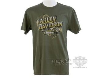 Ricks Harley-Davidson -Snake Skin- Dealer Men's T-Shirt 5L33-HHAM Tee