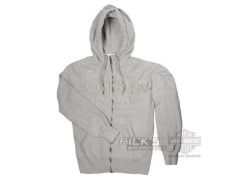 "ROKKER COMPANY Men's Zip-Hoodie ""TRC"" Hoodie C5000115 light grey stitched"