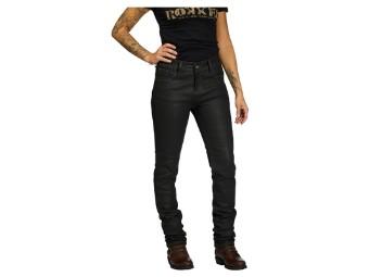 Rokkertech Lady Black 2411 Bikerjeans Schwarz Protektoren