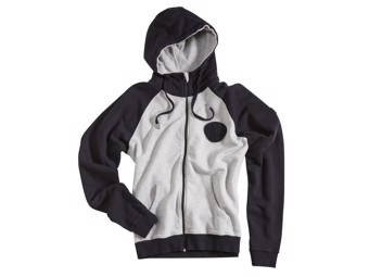 "ROKKER Zip Hoodie ""RACER ASSOCIATION"" Raglan C5000981 Black/light grey"