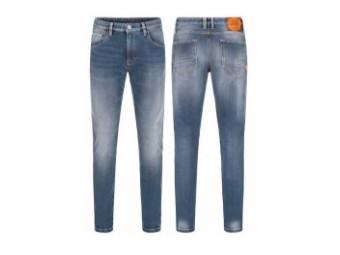 Tapered Slim Blue 1067 Bikerjeans CE-certified Protectors