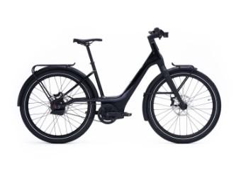 "E-Bike ""RUSH CITY STEP-THRU"" 25km/h in Black/Black oder Black/White Rahmengrößen M-L"