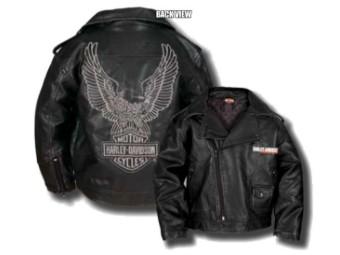 """Kinder-Lederjacke """"Upwing Eagle"""" SGI-0376074 Bar & Shield Schwarz"""