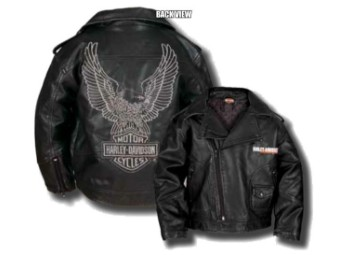 "Kids-Leatherjacket ""Upwing Eagle"" SGI-0376074 Bar & Shield Black"