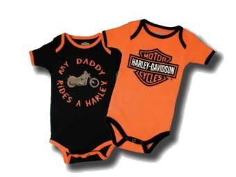 """Baby-Body Set of 2 """"My Daddy Rides A Harley"""" SGI-1153042"""