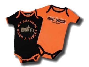 "Baby-Body Set of 2 ""My Grandpa Rides A Harley"" SGI-1153044"