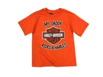 """Kinder T-Shirt """"My Daddy Rides A Harley"""" Orange SGI-1570937-4T"""