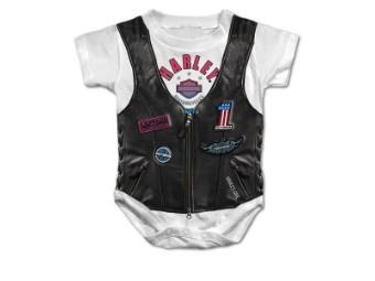 Baby Body mit Aufdruck Bar & Shield Lederjacke/Kutte SGI-3000157