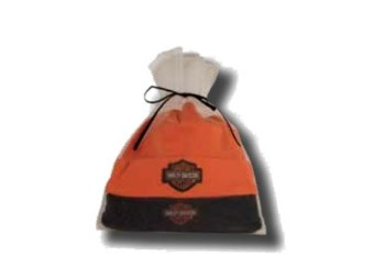 Baby Cap Set of 2 SGI-3050044 in Gift Bag Orange Black