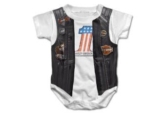 Baby Body mit Aufdruck Lederjacke/Kutte SGI-3050155