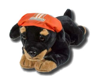 """plush toy """"Rebel Rottweiler"""" SGI-PL9950853 from 3+ years up fabric"""