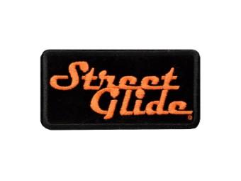 """Aufnäher/Emblem """"Street Glide"""" Patch EM647062 Schwarz-Orange"""