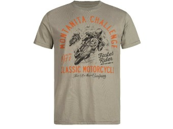 "T-Shirt ""Montanita"" C3010087 Dusty Olive Cotton Tee"