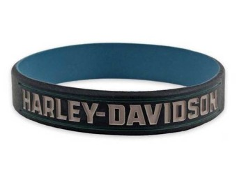 Wristbands, Steel Blue& Black