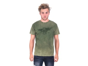 """""""Cross Wings Retro Stone"""" T-Shirt WCCTS132736GN Green"""