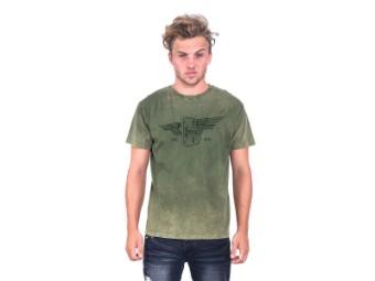 """Cross Wings Retro Stone"" T-Shirt WCCTS132736GN Grün"