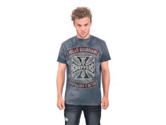 """Hells Guardians Vintage"" T-Shirt WCCTS132733BL Blau Tee"