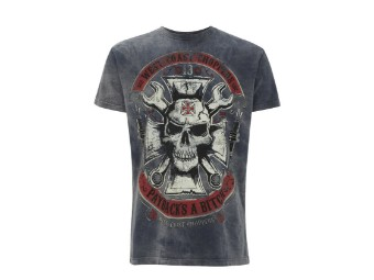 """MECHANIC"" T-Shirt WCCTS132596BL Navy Men's Tee Cotton"
