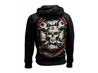 """MECHANIC"" Zip Hoodie WCCHD157ZW Black Sweatshirt Hood"