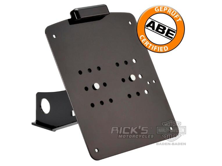 Ricks-Harley-Sportster-seitlich-Kennzeichenhalter-matt-schwarz-mit-TVABE-DE-273701640085