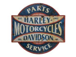Parts & Service Metallschild