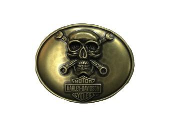 Skull & Wrenches Gürtelschnalle
