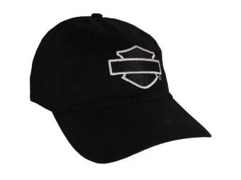 Harley-Davidson® Bar & Shield Schwarze Baseballkappe