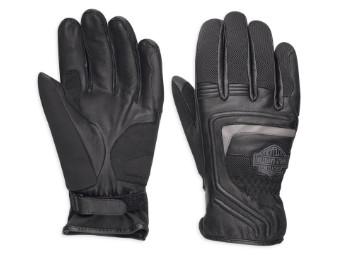 Bar & Shield® Logo Leder & Mesh Handschuhe