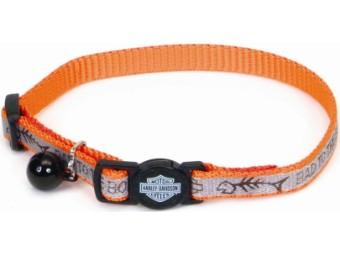 Reflective Orange Fish Halsband