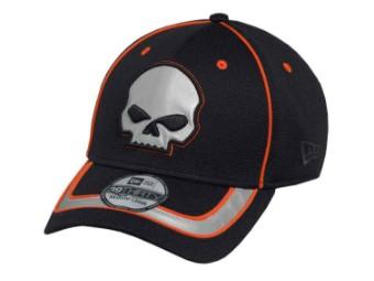Reflective Willie G Skull 39Thirty Baseball Cap