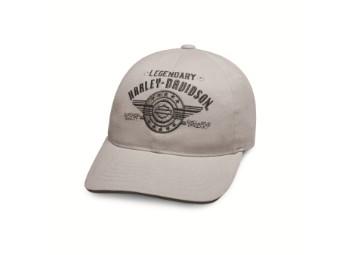 Legendary Logo B&S Grey Cotton Baseball Cap
