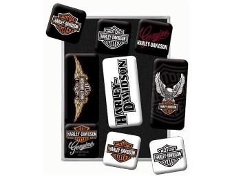 Nostalgic Retro Kühlschrank-Magnete H-D Logos