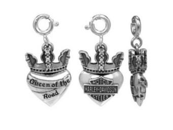 Queen Heart Charm Anhänger