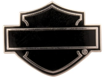Bar & Shield Pin Black