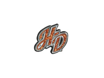 Orange Glitter H-D Pin Mini
