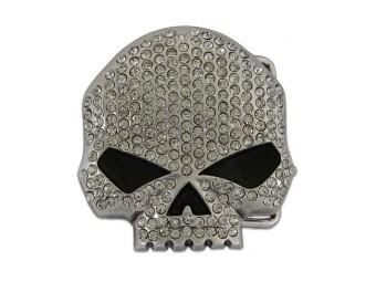 Willie G. Skull Bling Chrome Gürtelschnalle