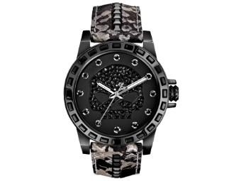 Boone Bling Willi G Skull Snake Leather Uhr