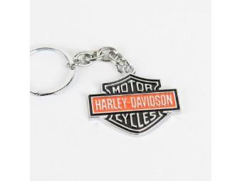 Black Orange Bar & Shield Schlüsselanhänger