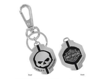 Bar & Shield Skull Schlüsselanhänger