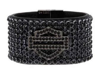 Sunday Morning Bar & Shield Black Bling Armband
