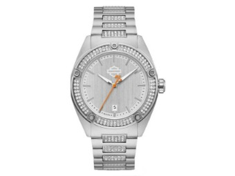 Crystal Embellished B&S Stainless Steel Uhr