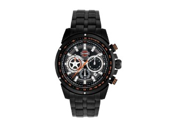 Black Chronograph Bar & Shield Kapalua Uhr