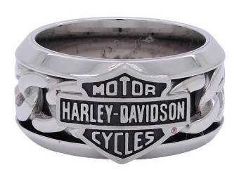 Stainless Steel Chain Bar & Shield H-D Ring