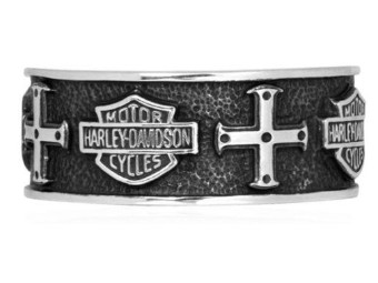 Silver Cross Band Ring