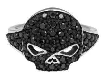 Black Ice Willi G Skull Ring