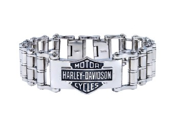 Stainless Steel Bar & Shield Armband
