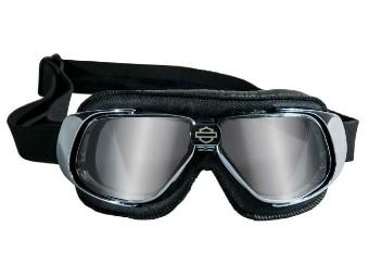 Fighter Grey Silver Flash Chrome Piloten Brille