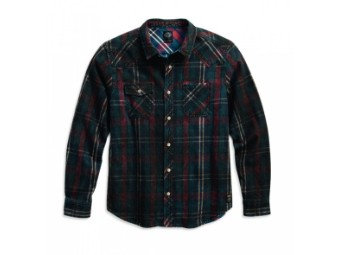 Coated Plaid Long Sleeve Hemd
